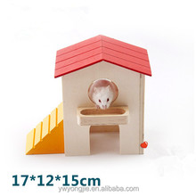 Factory Direct Pet Accessories Wooden Hamster Cage With Feeding Function For Small Animal Cages