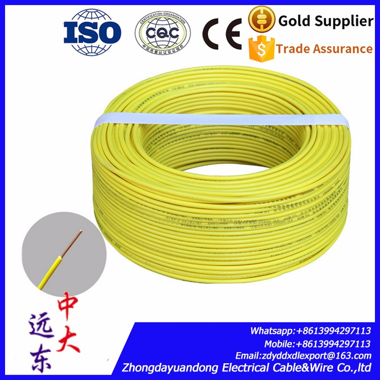 solid copper conductor pvc electric wire/BV wire/PVC insulated wire cable