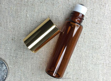 quality flint 10ml Amber Glass Roll-on Cylinder Bottles with Stainless Steel Roller Balls