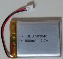 High quality soft pack polymer li ion battery 503040 3.7v 600mah