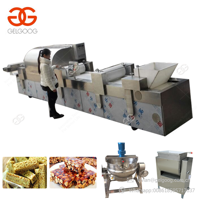 Bestsellings Crispy Peanut Candy Cereal Bar Maker Granola Bar Cutting Candy Bar Making Machines