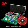 300pcs casino poker chip set/premium poker chip set/deluxe poker chip game set
