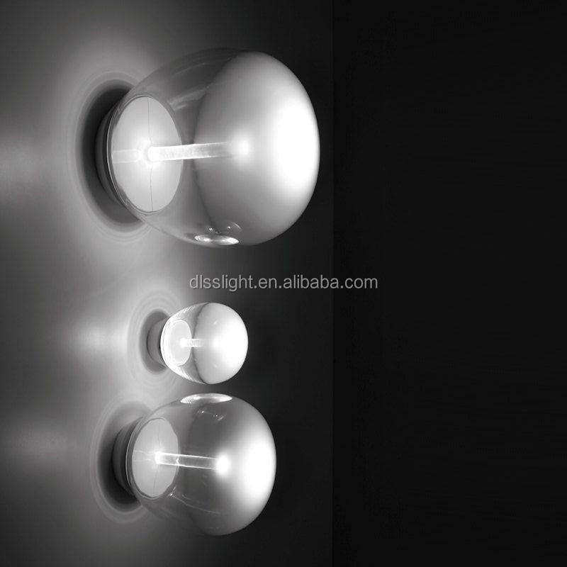 newest design modern glass noble wall lamp with CE/CL with LED