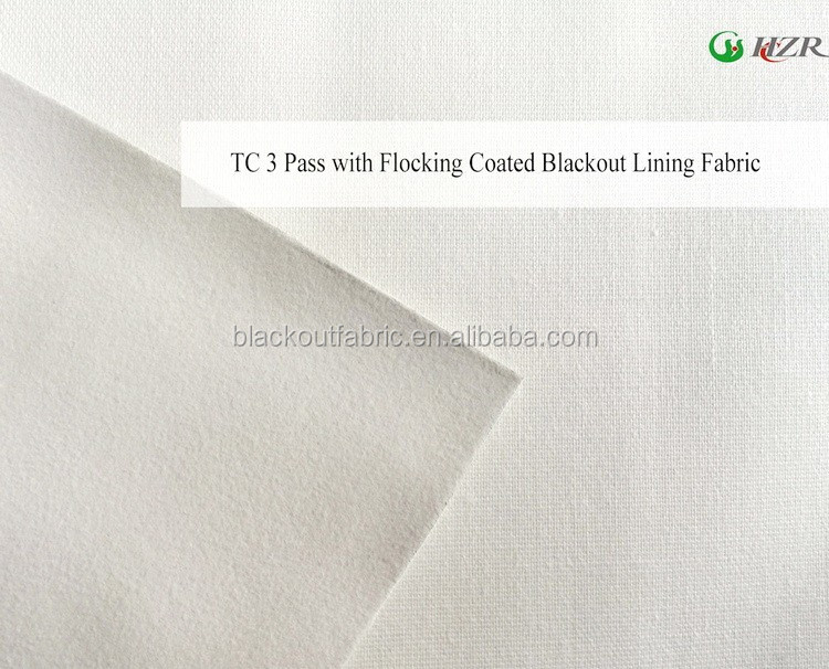 Poly Cotton Blended Blackout Lining Fabric for Drapery with FR Treated