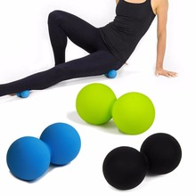 Silicone Double Lacrosse Ball Yoga Massage Messager Ball Gym Fitness Ball For Body Building