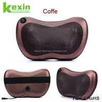 Full Body Shiatsu Massage Cushion Portable Car Seat Neck Pillow with Heated Ball and Car Charger
