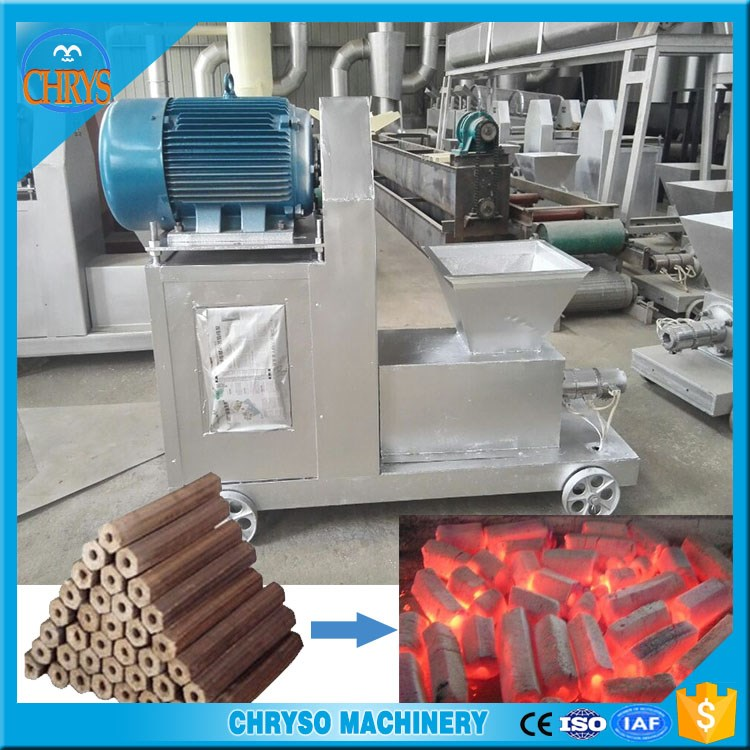 Sawdust, straw, rice husk, branches making coal rods machine for sale