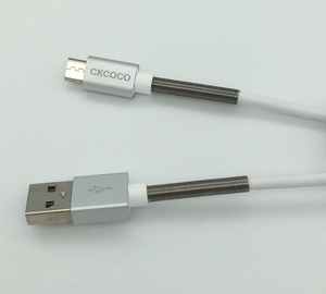 Spring type 2.4A fast charging cable Micro USB Android cable