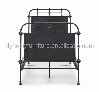 antique industrial style metal iron bed