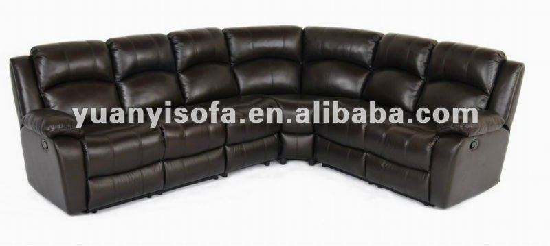 Black Reclining Sectional Sofa