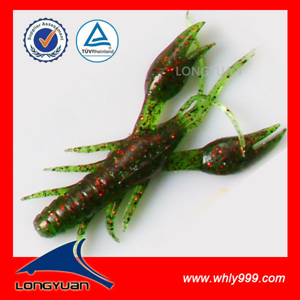 10.5cm 1.7g custimized soft plastic grub lures factory artificial rubber shad lures LY050