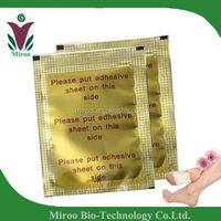 Chinese manufacturer 100% Natural herbal korea gold bamboo vinegar detox foot patch aroma patches