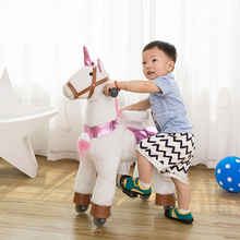 Small Size Man Power Plush Pony Ride Toy Animal Cycle For USA/SA/UA Market[Suitable for 3-7 years old]
