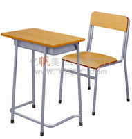 2015 Furniture college/university tables chairs, school reading and study taable with drawer