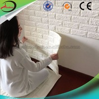 Adhesive 3d brick foam wall paper kids room wallpapers korea vinyl 3d sticker wallpaper wall decorative panel