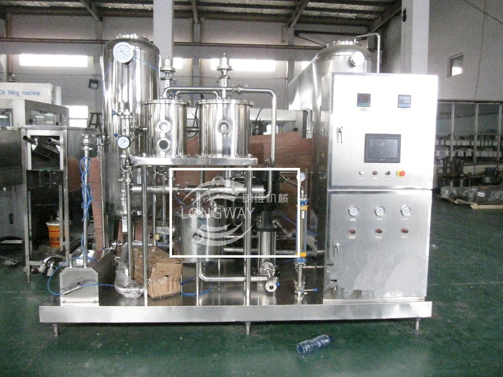100% factory for sale automatic high CO2 carbonated beverage mixing machine for carbonated soft drink production line