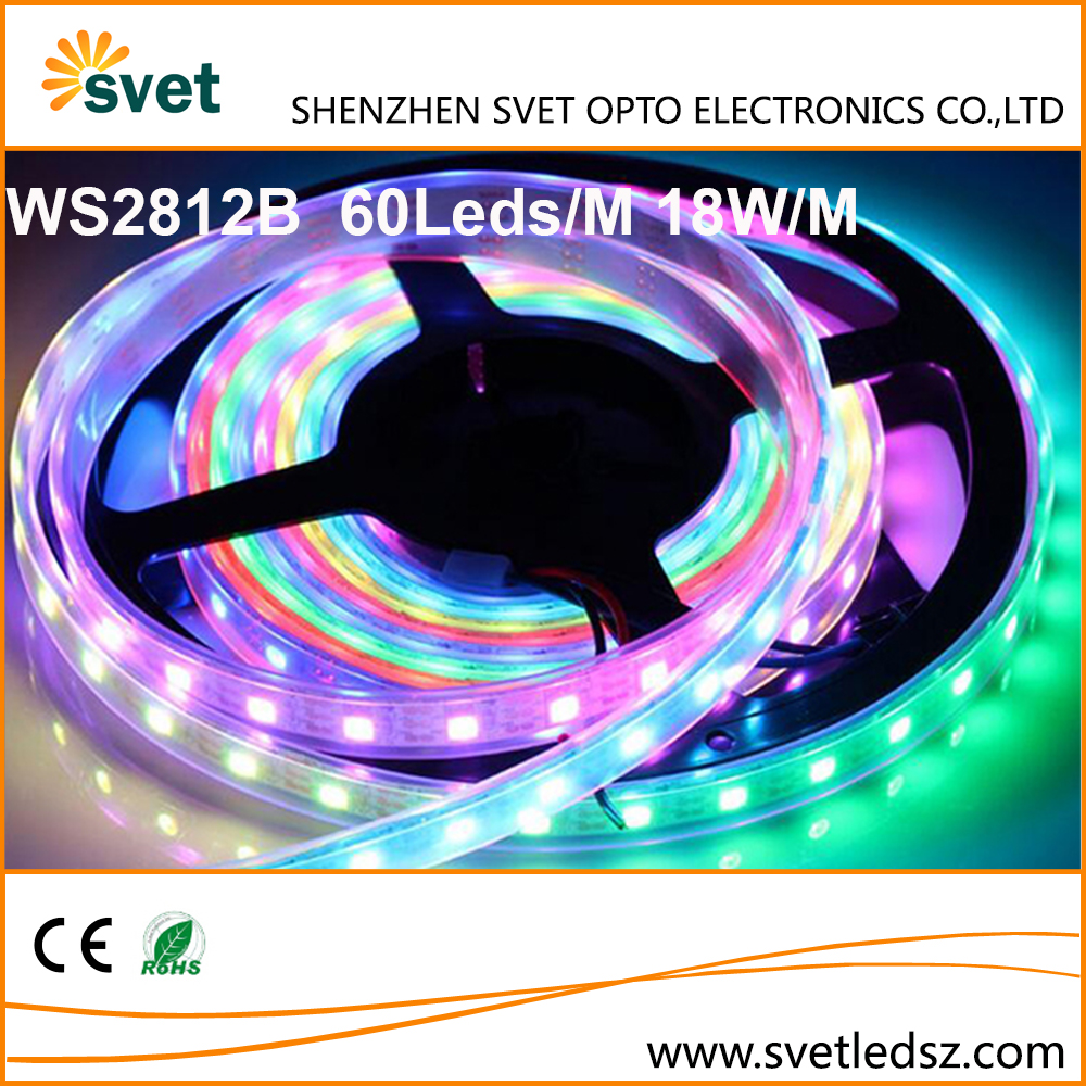 Dimmable WS2812B Led Strip Light Addressable RGB 8mm PCB DC5V 30/60/144Leds Pixels Per Meter