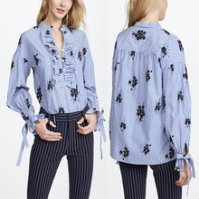 Famale Clothes Ladies Shirts Design Embroidery Blouses Model China Wholesale Clothing