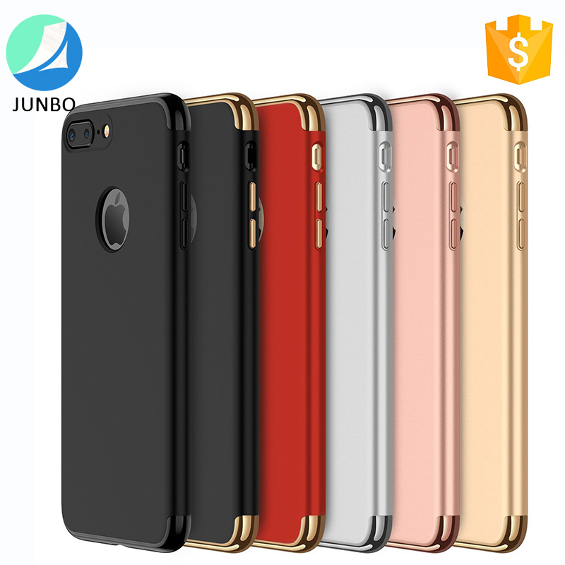 2017 phone accessories mobile 3 in 1 hard PC case for iphone 7 plus