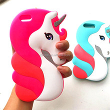 Top Selling Colorful Soft Silicone Unicorn Phone Case for iPhone 7, Unicorn Rubber Case For iPhone 7 7Plus