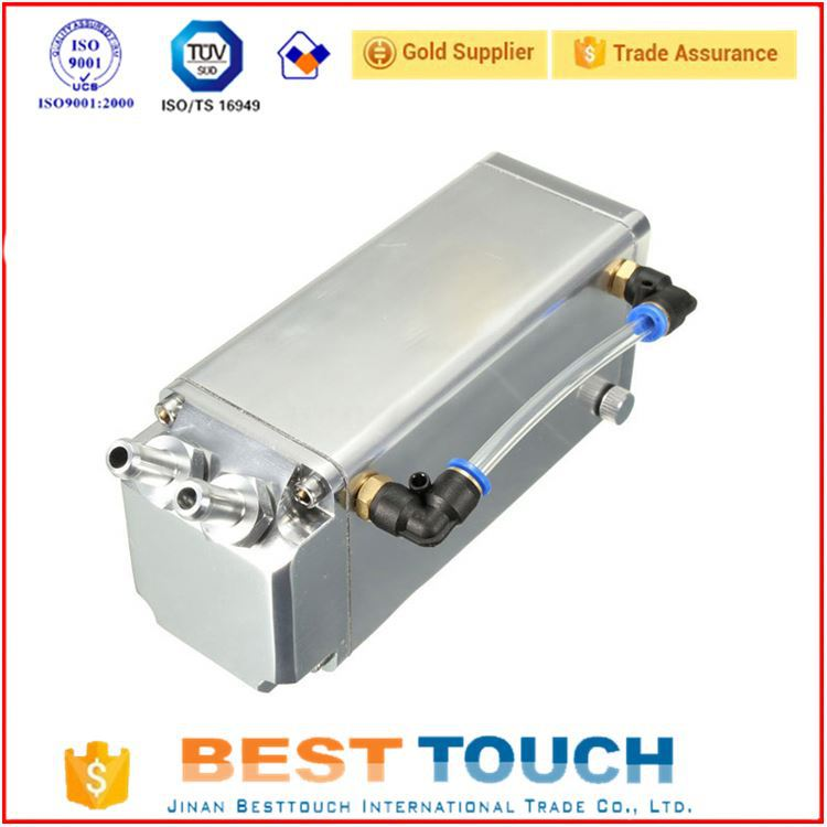 High quality silver square aluminum toyota car spare parts aluminium oil catch tank for dongfeng truck spare parts