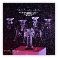 Crystal Candelabra Wedding Centerpieces