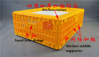 Big sliding door and easy to open poultry transport coop