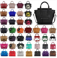 Ladies Designer Leather Style Celebrity Tote Bag