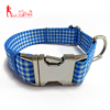 Hot Selling Pet Products Custom Printing Plain Nylon Dog Collar with Metal Buckle