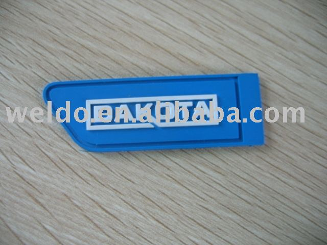 Silicone labels brand logo soft PVC label for garment custom