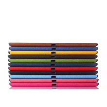 Colorful card slots full protect closure book folio tablet cover for iPad pro 12.9inch