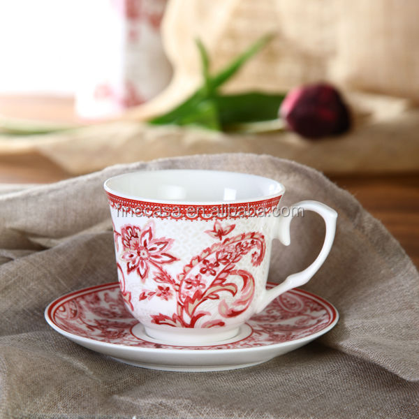 250cc Elegant Fine New Bone China Tea Cup and Saucer of Oriental Manor