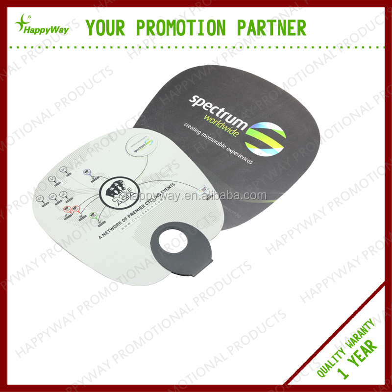 Advertising O-shaped Hand Fan 0105002 MOQ 100PCS One Year Quality Warranty