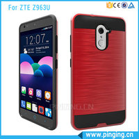 Fashion 2 In 1 PC + TPU Brushed Mars Dual Layer Protective Mobile Cover Case For ZTE Imperial MAX Z963U