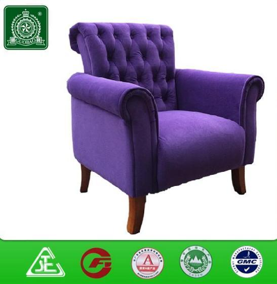 classic high back chesterfield fabric sofa chair ROY005