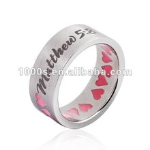 2013 Popular ring with heart enamel
