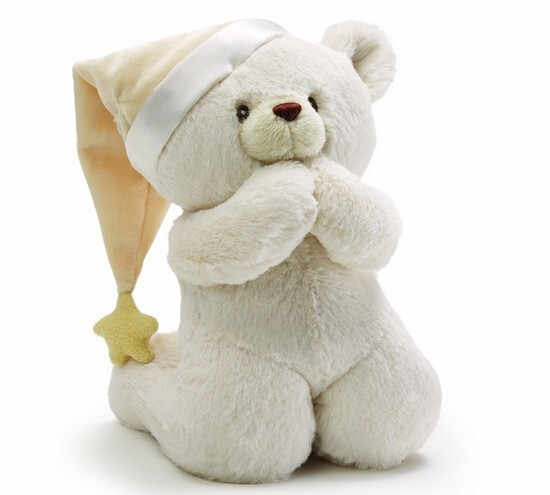 Plush Electronic Bear Sound Toy/Stuffed Bear Repeat Prayer in Soft Child Sound/Stufferd Sound Toy Bear by Pree Button