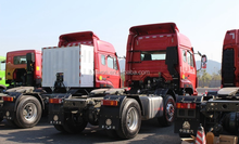 Strong engine Sinotruk Hohan 346hp 6x2 haulage vehicle