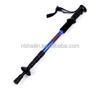 Factory sell cheaper Outdoor walking sticks trekking pole climbing-crutch