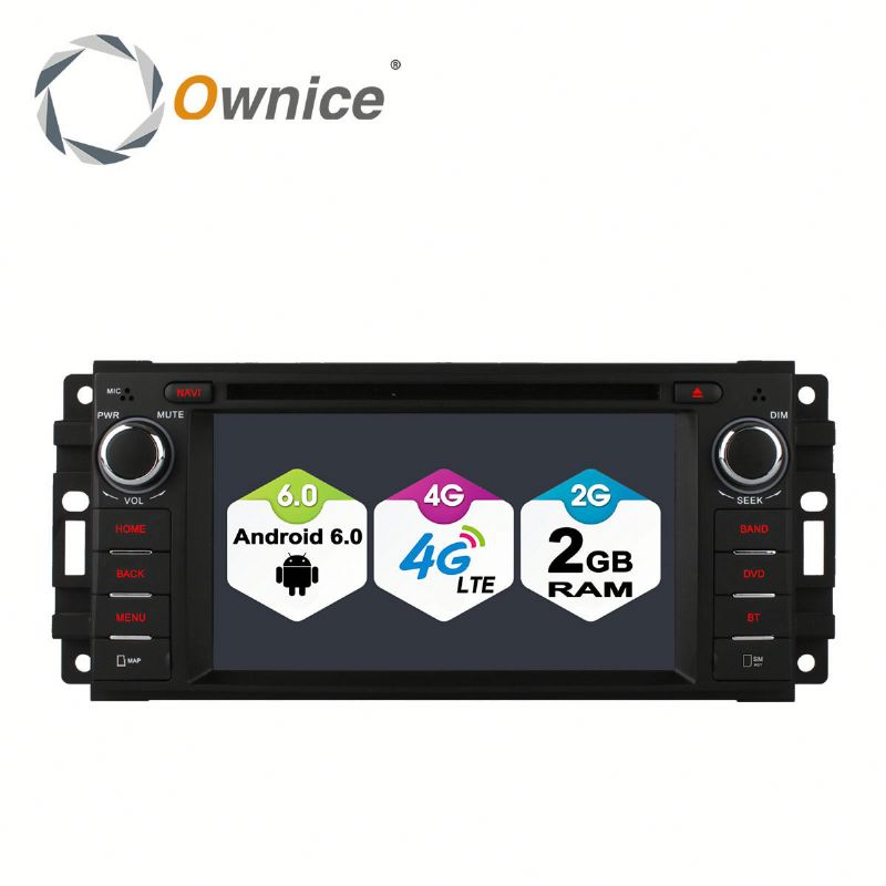Ownice 4 Core Android 6.0 Car GPS stereo for Jeep Wrangler Unlimited support TV OBD DAB GPS NAVI RADIO Built 4G LTE