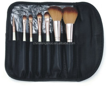 Professional 7pcs paintbrushes of Makeup Brushes tools ccessories Make-up Toiletry Kit set Wool Brand Make Up Brush Set Case !!
