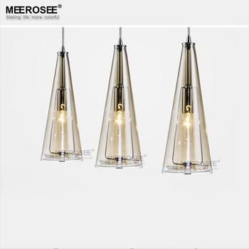3 Light Modern Glass Hangimg Lamp Glass Pendant Lights for Kitchen, Dining Room, Bedroom MD82016
