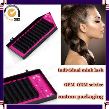 Milkyway cheap price all size J B C D curl synthetic individual mink eyelash,eyelash extensions