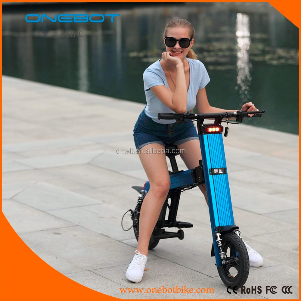 New design double batteries electric bicycle Onebot T8 kids kick bike scooter