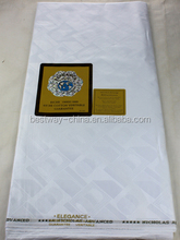 100% cotton white guinea brocade fabric for african men and women