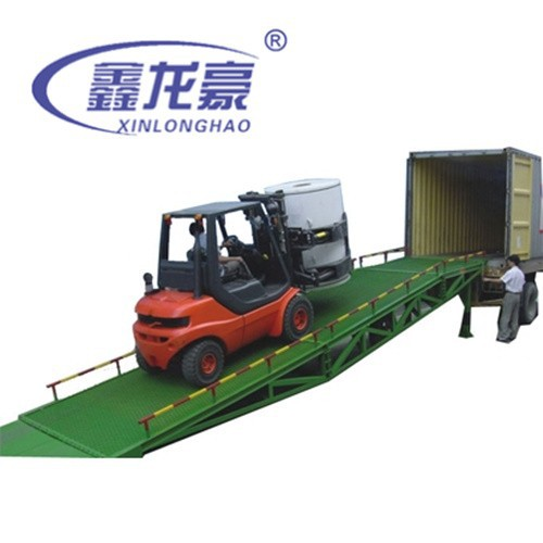 Stations, warehouses used hydrualic mobile container truck loading ramp