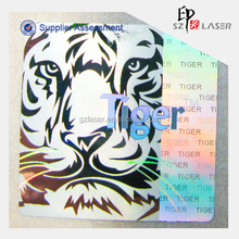 High DPI ture color hologram sticker with serial number, used for laminating pouches