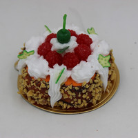 Fake food crafts miniature cake fridge magnet/Yiwu sanqi craft factory
