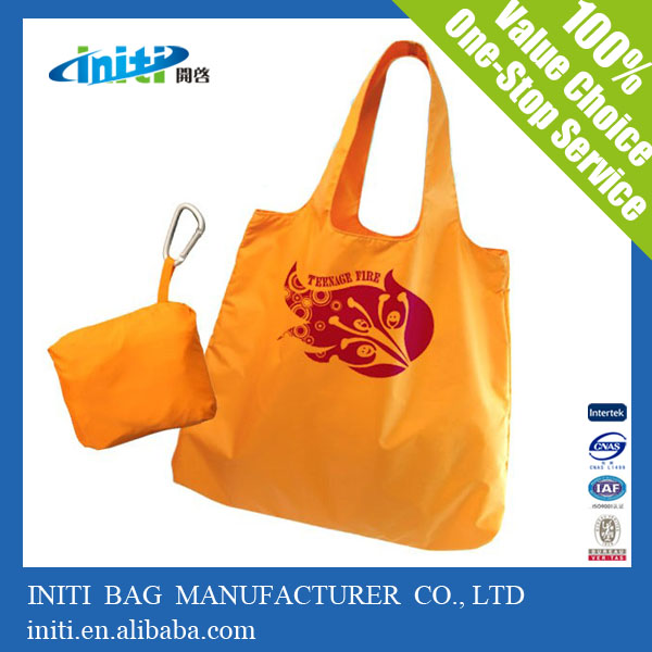 2016 Quality prnting fashion custom polyester shopping foldable bag
