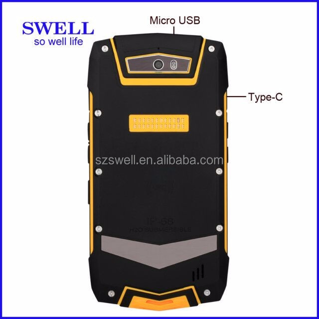 Rugged waterproof mobile phone shockproof outdoor cell phone with whatsapp facebook Twitter